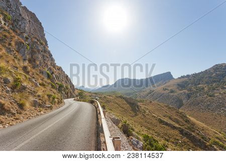 Cala Figuera De Formentor, Mallorca, Spain - Country Road Through The Mountains Of Formentor