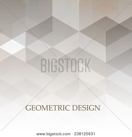 Abstract Grey And White Tech Geometric Corporate Design Background. Grey Geometric Technology Backgr