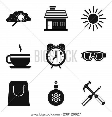 Warm Atmosphere Icons Set. Simple Set Of 9 Warm Atmosphere Vector Icons For Web Isolated On White Ba
