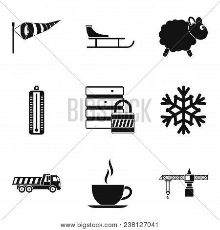 Homelike Atmosphere Icons Set. Simple Set Of 9 Homelike Atmosphere Vector Icons For Web Isolated On