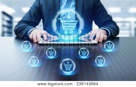 Add To Cart Internet Web Store Buy Online E-commerce Concept.
