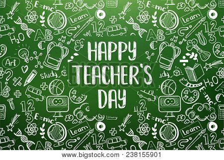 Happy Teachers Day Greeting On Vector & Photo | Bigstock