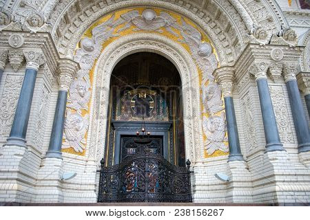 Details Of External Decoration Naval Cathedral Of St. Nicholas