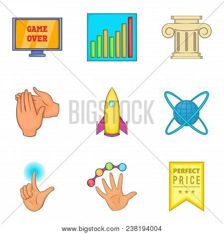 Honourable Mention Icons Set. Cartoon Set Of 9 Honourable Mention Vector Icons For Web Isolated On W