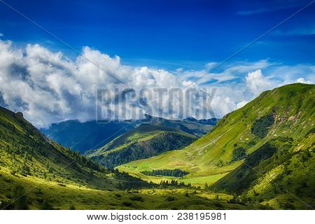 Beautyfull Mountain Landscape. Alps Montains In Bagolino, Province Of Brescia, Italy.