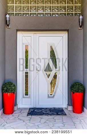 Front Door Pvc. Plastic White Front Door