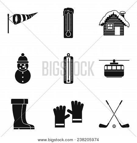 Freeze Icons Set. Simple Set Of 9 Freeze Vector Icons For Web Isolated On White Background