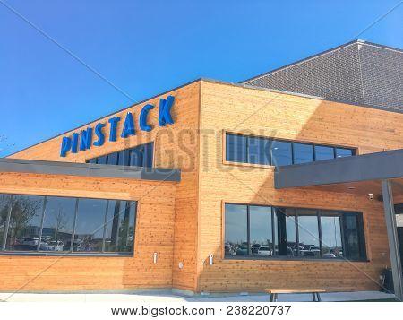 Entrance To Pinstack In Las Colinas, Irving, Texas
