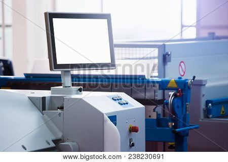 Automatic Machine Control Panel At A Smart Factory
