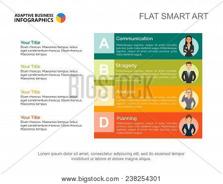 Effective Business Slide Template. Chart, Design. Creative Concept For Infographic, Report. Can Be U