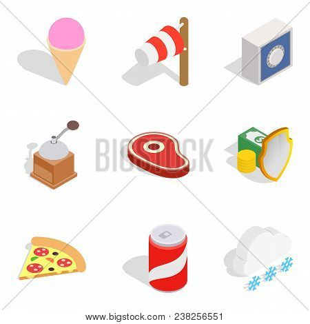 Spend The Winter Icons Set. Isometric Set Of 9 Spend The Winter Vector Icons For Web Isolated On Whi