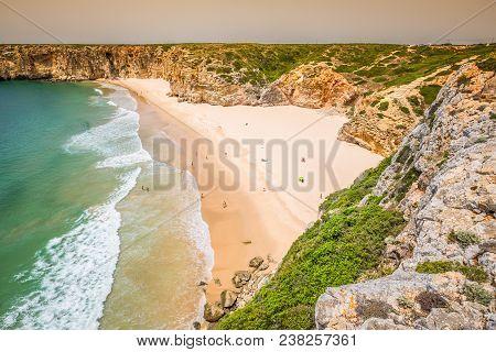 Praia Do Beliche - Beautiful Coast And Beach Of Algarve, Portugal