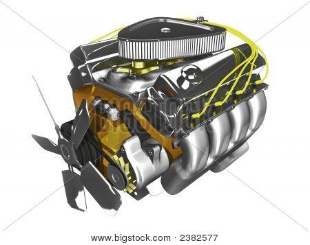 3D Engine On White
