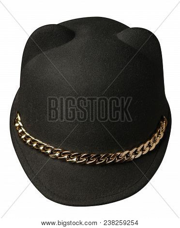 Women's Hat Felt Isolated On White Background .fashion Hat Fel