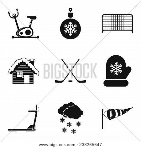 Freeze Sport Icons Set. Simple Set Of 9 Freeze Sport Vector Icons For Web Isolated On White Backgrou