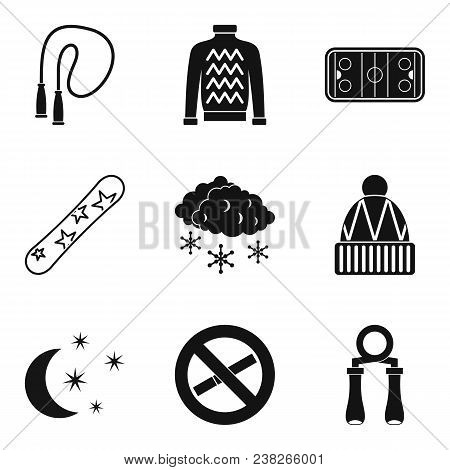 Frisky Icons Set. Simple Set Of 9 Frisky Vector Icons For Web Isolated On White Background