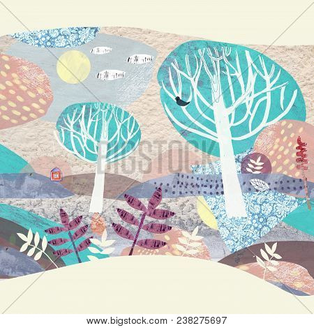 Nature Landscape. Abstract Natural Scene. Nature And Environment Conservation Concept. Preservation