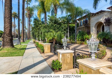 Beverly Hills, California - January 11, 2018: A Pretty Beverly Hills House