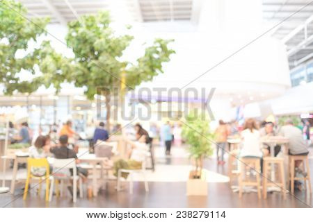 Blurred Background : Blur Group Of People Team Meeting At Co-working Space, Casual Style, Teamwork C