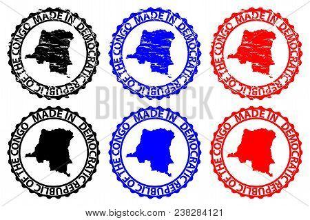 Made In Democratic Republic Of The Congo - Rubber Stamp - Vector, Democratic Republic Of The Congo M