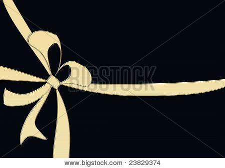golden loop on a black background