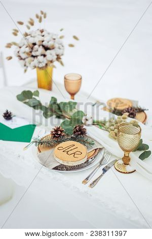 Beautiful Table For The First Feast Of The Newlyweds