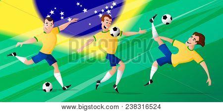 Team Brazil Football Soccer Players Set