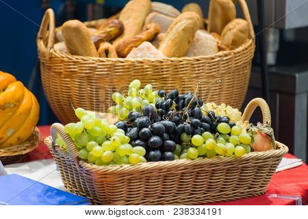 Fruit Basket And Bread Basket Ta The Table