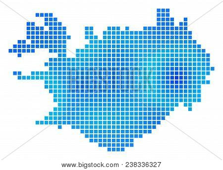 Blue Dot Iceland Map Vector & Photo (Free Trial) | Bigstock