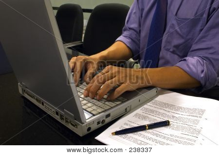 Typing On The Computer