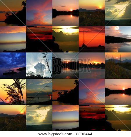 Collage Sonnenuntergänge (Medium)
