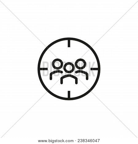 Icon Of Focus Group. Aim, Team, Participant. Marketing Purpose Concept. Can Be Used For Topics Like