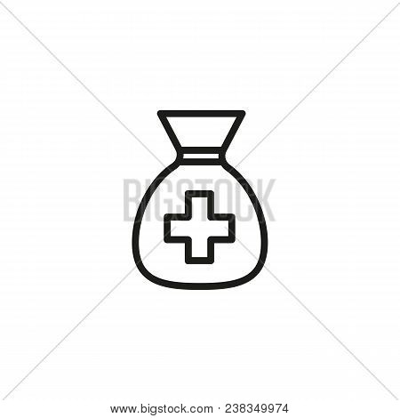 Medical Fund Line Icon. Emergency, Bag, Capital. Volunteering Concept. Can Be Used For Topics Like F