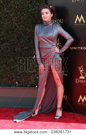 LOS ANGELES - APR 27:  Victoria Konefal at the 2018 Daytime Emmy Awards - Creative at Pasadena Civic Auditorium on April 27, 2018 in Pasadena, CA