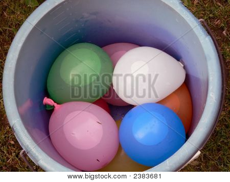 Ballons In Bucket