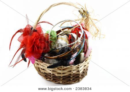 Hair Clips In The Basket