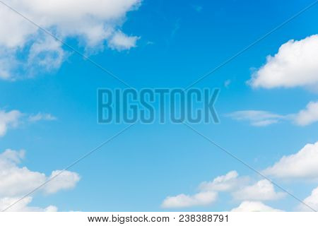 The Vast Blue Sky And Clouds Sky. Blue Sky Background With Tiny Clouds Sky Blue Cloud Background Bea