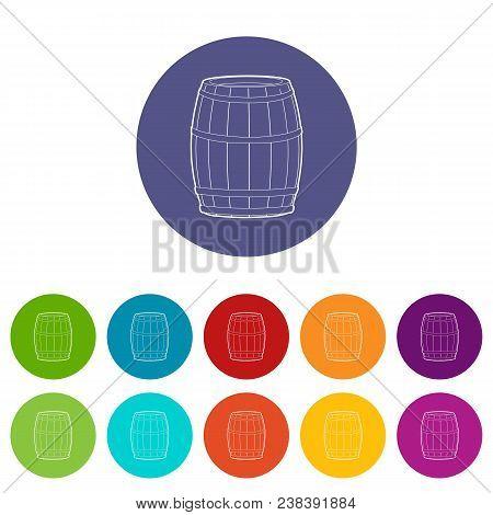 Wine Barrel Icon. Outline Illustration Of Wine Barrel Vector Icon For Web