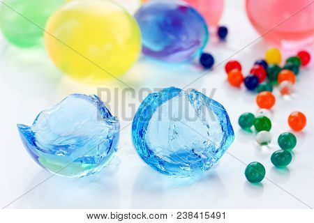 Hydrogel Balls , Water Beads , Growing Polymer Gel Balls , Colored Jelly Crystal Balls