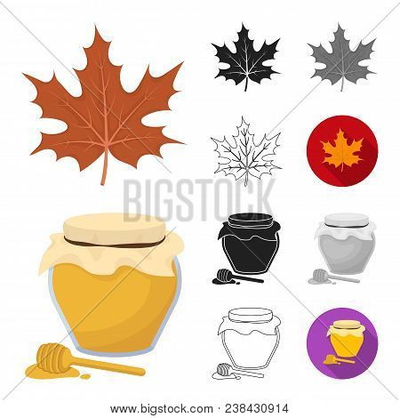 Canada Thanksgiving Day Cartoon, Black, Flat, Monochrome, Outline Icons In Set Collection For Design