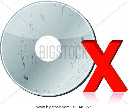 Damaged CD-ROM illustration design