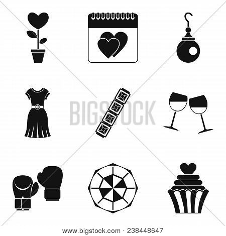Female Beginning Icons Set. Simple Set Of 9 Female Beginning Vector Icons For Web Isolated On White