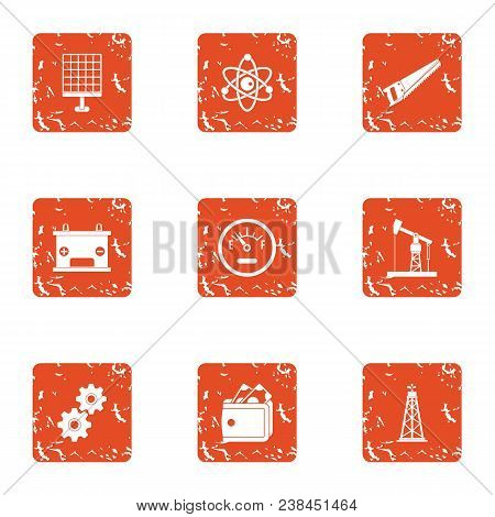Research Advisor Icons Set. Grunge Set Of 9 Research Advisor Vector Icons For Web Isolated On White