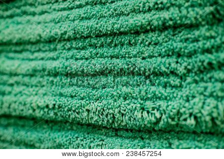 Carpet Texture.close Up Of Green Yarn Carpet For Background