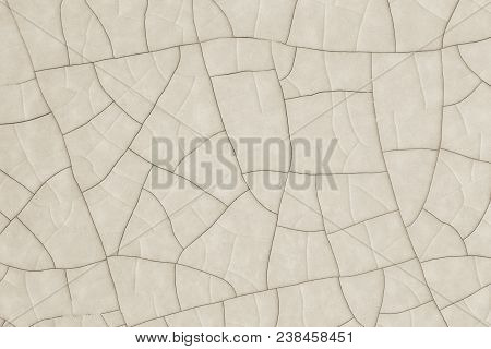 Macro Of Cracked Ceramic Surface For Background Use