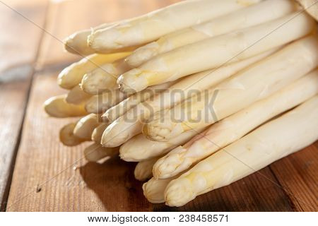 Fresh Tasty White Asparagus, Seasonal Vegetable, New Harvest, Ready To Cook