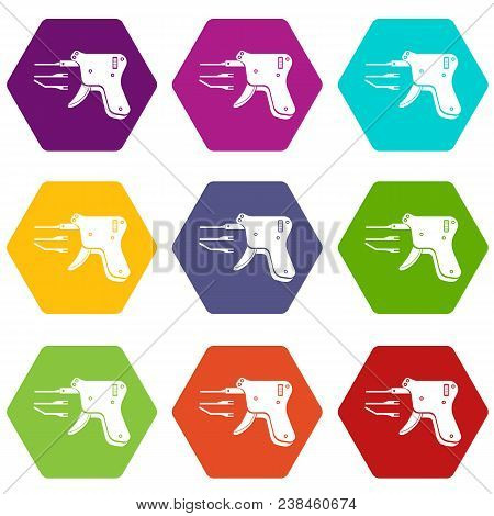 Code Reader Icons 9 Set Coloful Isolated On White For Web