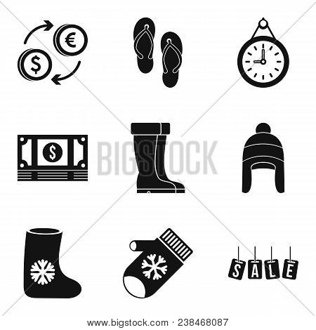 Commercial Area Icons Set. Simple Set Of 9 Commercial Area Vector Icons For Web Isolated On White Ba