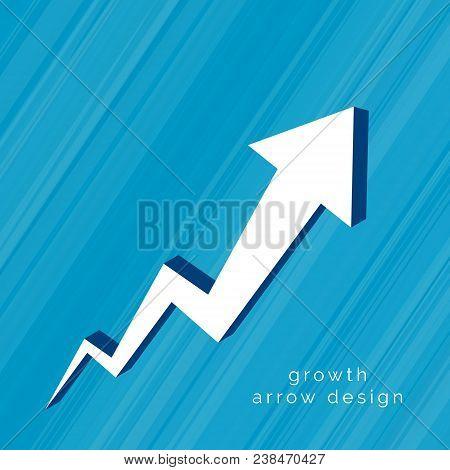 3d Arrow Moving Upward Design Vector Illustration