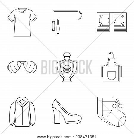 Trading Firm Icons Set. Outline Set Of 9 Trading Firm Vector Icons For Web Isolated On White Backgro